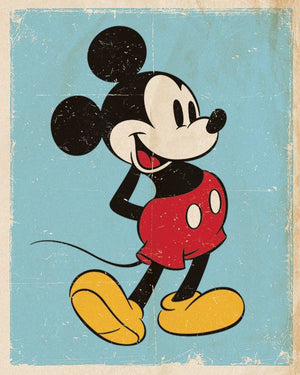 Pyramid Mickey Mouse Retro Poster 40x50cm | Yourdecoration.nl