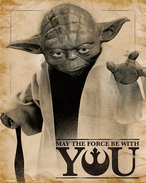 Pyramid Star Wars Classic Yoda May the Force be With You Poster 40x50cm | Yourdecoration.nl