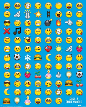 Pyramid Smiley Emoticon Poster 40x50cm | Yourdecoration.nl