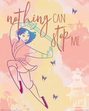 Pyramid Mulan Nothing Can Stop Me Poster 40x50cm | Yourdecoration.nl