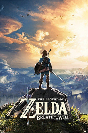 Pyramid The Legend of Zelda Breath of the Wild Sunset Poster 61x91,5cm | Yourdecoration.nl