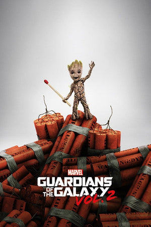 Pyramid Guardians of the Galaxy Vol 2 Groot Dynamite Poster 61x91,5cm | Yourdecoration.nl