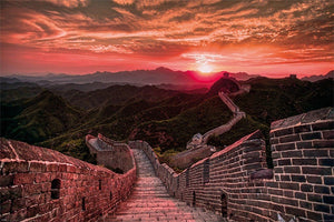 Pyramid The Great Wall of China Sunset Poster 91,5x61cm | Yourdecoration.nl
