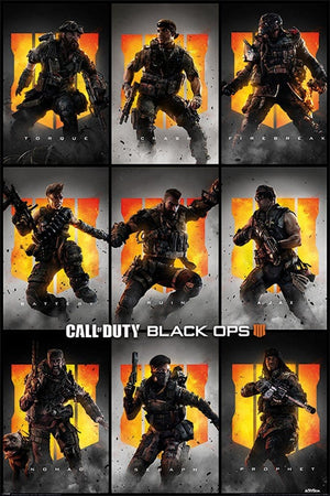 Pyramid Call of Duty Black Ops 4 Characters Poster 61x91,5cm | Yourdecoration.nl