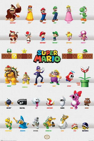 Pyramid Super Mario Character Parade Poster 61x91,5cm | Yourdecoration.nl