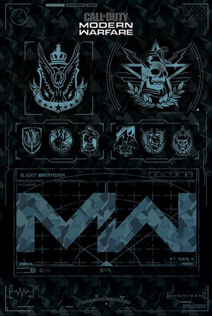 Pyramid Call of Duty Modern Warfare Fractions Poster 61x91,5cm | Yourdecoration.nl