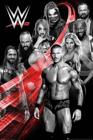 Pyramid WWE Superstars Swoosh Poster 61x91,5cm | Yourdecoration.nl