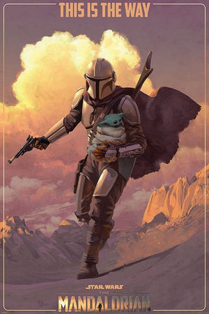Pyramid Star Wars The Mandalorian On the Run Poster 61x91,5cm | Yourdecoration.nl