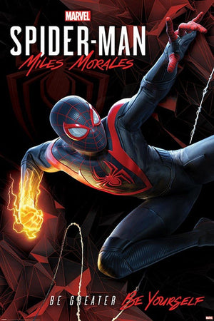 Pyramid Spider-Man Miles Morales Cybernetic Swing Poster 61x91,5cm | Yourdecoration.nl