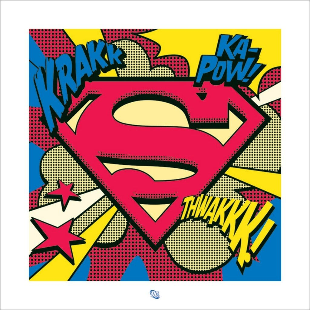 Pyramid Superman Pop Art Shield Kunstdruk 40x40cm