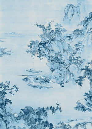 Komar Blue China Vlies Fotobehang 200x280cm 2-banen | Yourdecoration.nl