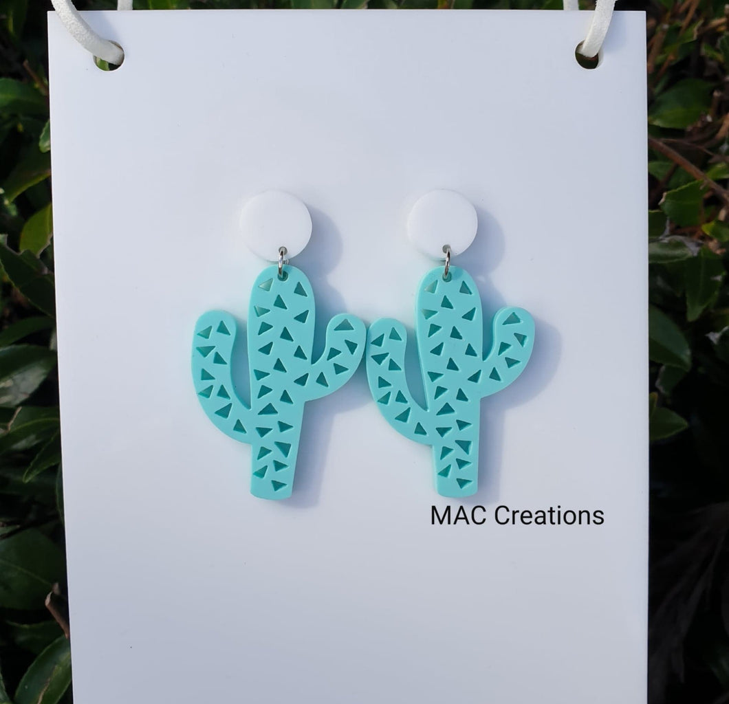 Cactus Drop Stud Earrings