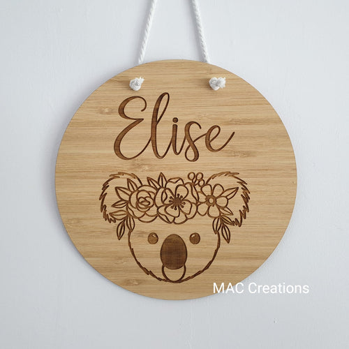 Koala - Name Plaque - Name Sign