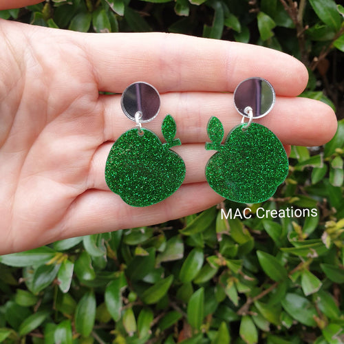 Green Apple and Mirror Dangles