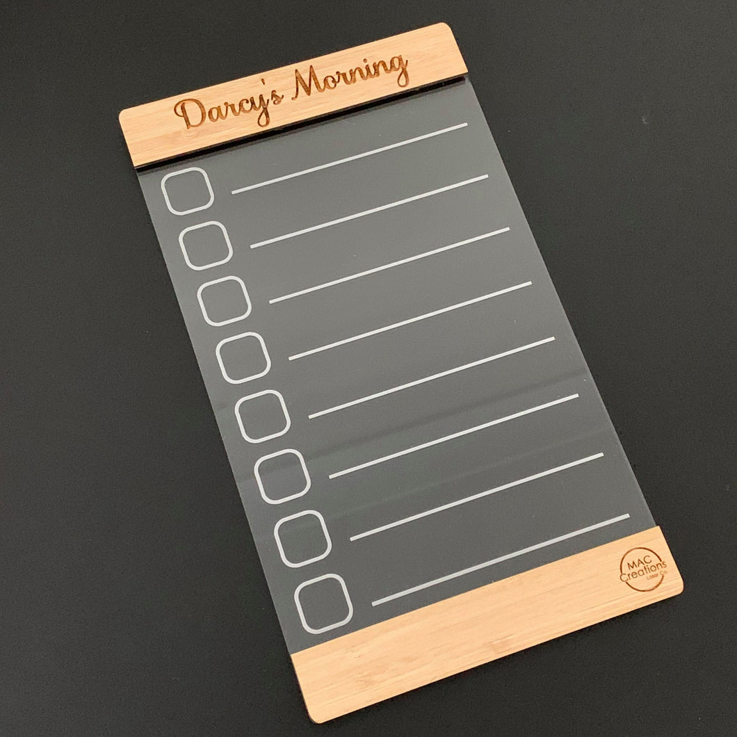 Morning Routine Chart Family Organiser - Magnetic