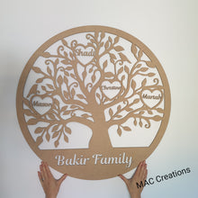 Load image into Gallery viewer, Personalised Family Tree Plaque