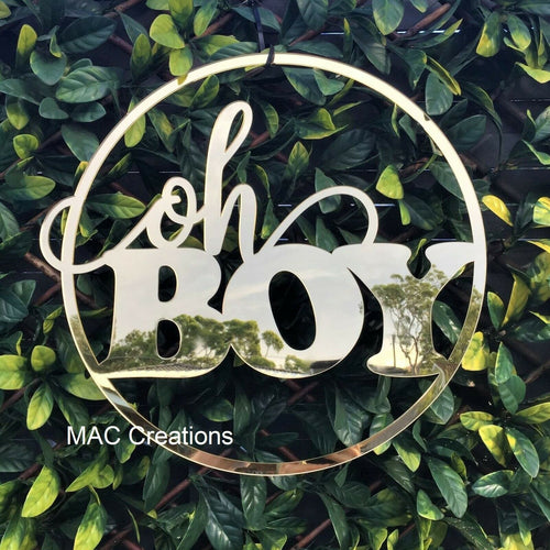 'Oh Boy' Baby Shower Sign - MAC Creations Laser Co.