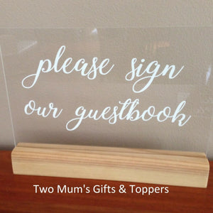 'Please Sign Our Guest Book' Sign - MAC Creations Laser Co.