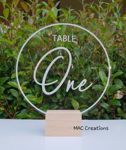 Table Numbers - MAC Creations Laser Co.