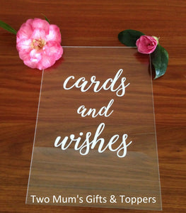 'Cards and Wishes' (or Gifts) Sign - MAC Creations Laser Co.