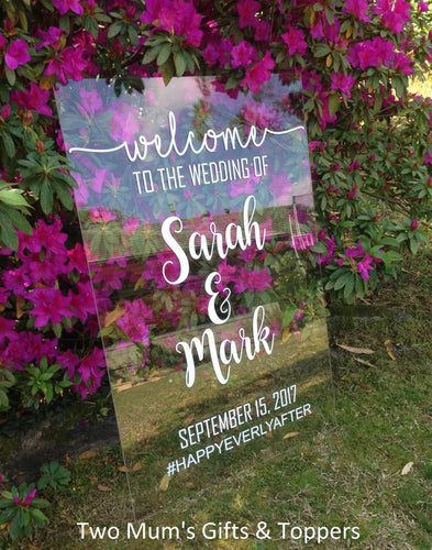 Welcome Sign 60x90 cm - MAC Creations Laser Co.