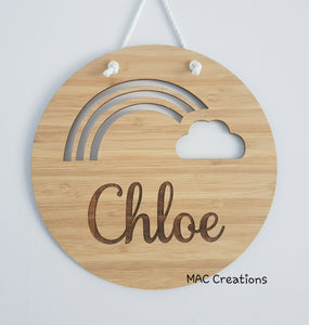 Rainbow - Name Plaque - MAC Creations Laser Co.