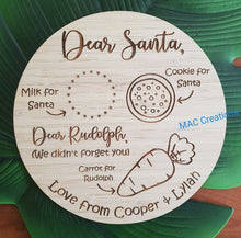 Load image into Gallery viewer, Double Sided Christmas/Easter Snack Plate - Round - MAC Creations Laser Co.