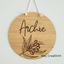 Load image into Gallery viewer, Gum Nut - Name Plaque - MAC Creations Laser Co.