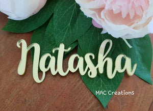 Wooden or Acrylic Place Names - Font 5 - MAC Creations Laser Co.