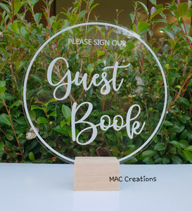 'Please Sign Our Guestbook' Sign - MAC Creations Laser Co.
