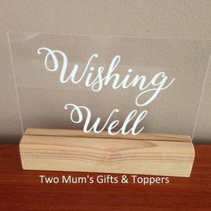 Wedding Wishing Well Sign - MAC Creations Laser Co.