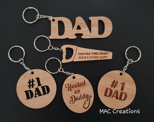 Father's Day Keyrings - MAC Creations Laser Co.