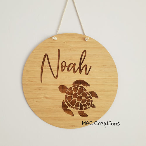 Turtle - Name Plaque - Name Sign - MAC Creations Laser Co.