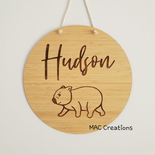 Wombat - Name Plaque - Name Sign - MAC Creations Laser Co.