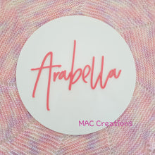 Load image into Gallery viewer, Double-Layered Acrylic Name Plaque - MAC Creations Laser Co.