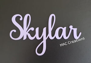 Wooden or Acrylic Place Names - Font 6 - MAC Creations Laser Co.