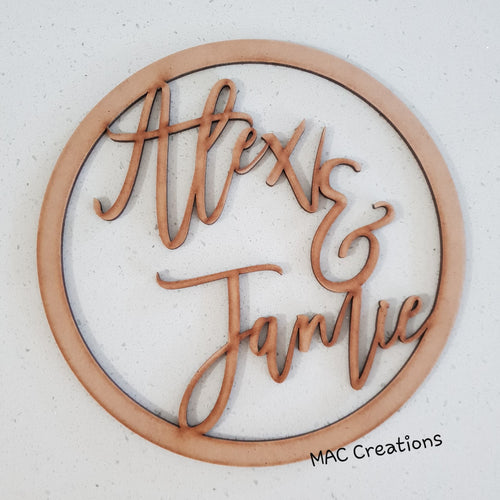 MDF Hoop - MAC Creations Laser Co.