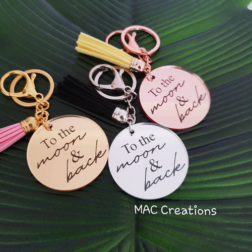'To the moon and back' Keyring - MAC Creations Laser Co.