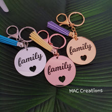 Load image into Gallery viewer, 'Family' Keyring - MAC Creations Laser Co.