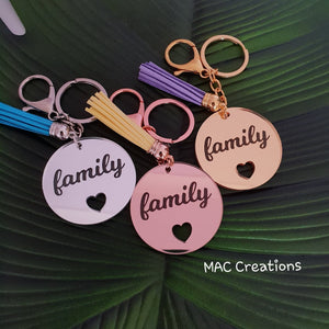 'Family' Keyring - MAC Creations Laser Co.