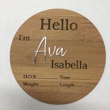 Load image into Gallery viewer, Personalised Birth Details Plaque
