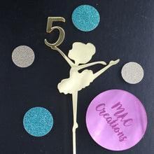 Load image into Gallery viewer, 'Ballerina' Cake Topper - Any Age - MAC Creations Laser Co.