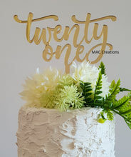 Load image into Gallery viewer, 'Twenty One' Cake Topper - MAC Creations Laser Co.