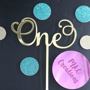 'One' Cake Topper - MAC Creations Laser Co.