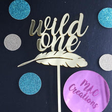 Load image into Gallery viewer, 'Wild One' Cake Topper - MAC Creations Laser Co.