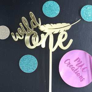 'Wild One' Cake Topper - MAC Creations Laser Co.