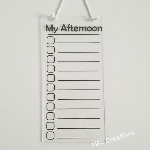 Blank Afternoon Routine Chart - MAC Creations Laser Co.
