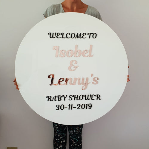Baby Shower Welcome Sign with 3D text - MAC Creations Laser Co.
