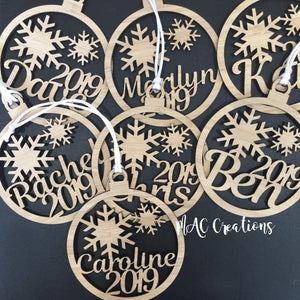 Snowflake Ornament - MAC Creations Laser Co.