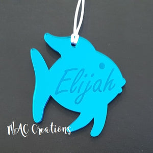 Personalised Pet Ornament - Fish - MAC Creations Laser Co.